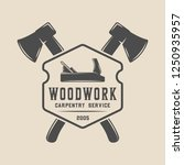 vintage carpentry  woodwork and ...   Shutterstock .eps vector #1250935957