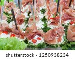 party platter of sandwiches.... | Shutterstock . vector #1250938234