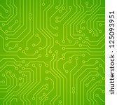 Vector Circuit Board. Green...