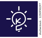 kc initial letter with creative ... | Shutterstock .eps vector #1250950297