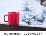 cup with coffee  tea on the... | Shutterstock . vector #1250951857