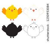 bird worksheet vector design | Shutterstock .eps vector #1250953084