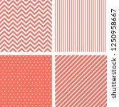 vecor seamless patterns in... | Shutterstock .eps vector #1250958667