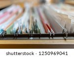 important documents in the... | Shutterstock . vector #1250969041