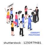 corrupt politician white... | Shutterstock .eps vector #1250979481