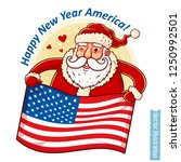 happy new year   santa claus... | Shutterstock .eps vector #1250992501