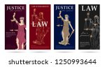 law and justice set of flyers... | Shutterstock .eps vector #1250993644