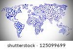 world  map made of blue water... | Shutterstock . vector #125099699