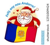 happy new year andorra   santa... | Shutterstock .eps vector #1251009424