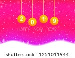 chritmas and happy new year... | Shutterstock .eps vector #1251011944