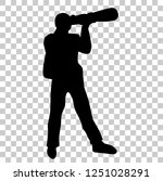 silhouette of professional...   Shutterstock .eps vector #1251028291