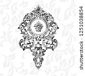 vintage baroque frame scroll...   Shutterstock .eps vector #1251038854