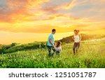 happy family enjoying the life... | Shutterstock . vector #1251051787