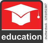 education icon for web and... | Shutterstock .eps vector #1251052387
