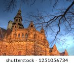 ominous looking walls and spire ... | Shutterstock . vector #1251056734