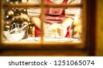 christmas window decoration and ... | Shutterstock . vector #1251065074