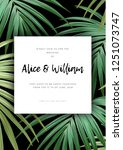 floral wedding invitation with... | Shutterstock .eps vector #1251073747