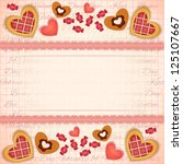 greeting valentines card with... | Shutterstock .eps vector #125107667