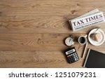 tax times mock up newspaper... | Shutterstock . vector #1251079231