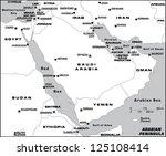 arabian peninsula | Shutterstock .eps vector #125108414