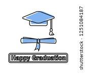 happy graduation icon | Shutterstock .eps vector #1251084187