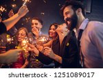 group of young people... | Shutterstock . vector #1251089017