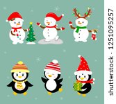 new year and christmas card. a...   Shutterstock . vector #1251095257