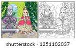 beautiful princess holding... | Shutterstock .eps vector #1251102037