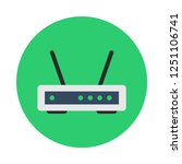 wireless router flat icon. you...