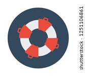 safety ring flat icon. you can...