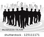 business team against the... | Shutterstock .eps vector #125111171
