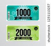 gift voucher template with... | Shutterstock .eps vector #1251113257
