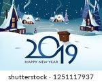 twenty nineteen poster design....   Shutterstock .eps vector #1251117937