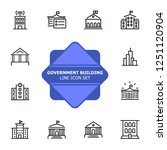 government building line icon... | Shutterstock .eps vector #1251120904