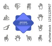 gestures line icon set. like ... | Shutterstock .eps vector #1251120907