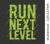 athletic sport run typography ... | Shutterstock .eps vector #1251127444