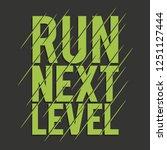 athletic sport run typography ... | Shutterstock .eps vector #1251127444