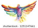 watercolor illustration of... | Shutterstock . vector #1251147661
