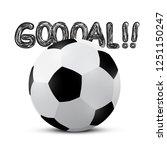 football ball with goooal  ... | Shutterstock .eps vector #1251150247