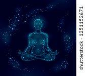 yoga practice woman in lotus...   Shutterstock .eps vector #1251152671