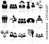 office people icons set. eps 10 | Shutterstock .eps vector #125116187