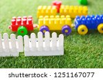 baby building kit on a green... | Shutterstock . vector #1251167077