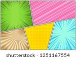 comic book page background with ... | Shutterstock .eps vector #1251167554