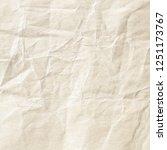 brown crumpled paper texture | Shutterstock . vector #1251173767