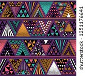 multicolor tribal vector... | Shutterstock .eps vector #1251176641