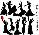 Women Dancing Flamenco And...