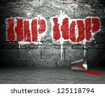 graffiti wall with hip hop ... | Shutterstock . vector #125118794