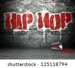 graffiti wall with hip hop ... | Shutterstock . vector #125118794