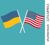 vector icon flags of america... | Shutterstock .eps vector #1251189811