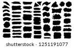 brush strokes bundle. vector... | Shutterstock .eps vector #1251191077